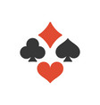 four playing cards suits symbols vector image vector image