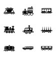 freight wagon icons set simple style vector image vector image