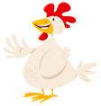 funny chicken or hen farm animal character vector image vector image