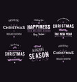 funny merry christmas happy new year season vector image vector image