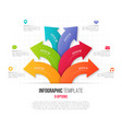infographics with 6 option branching circular vector image vector image