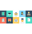 innovative flat education icons vector image