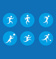 man silhouette playing sport vector image vector image