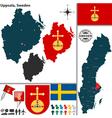 Map of Uppsala vector image vector image