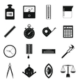 Measure precision icons set simple style vector image vector image