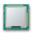 microprocessor chip electronic components icon vector image vector image