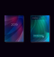 modern gradient mesh cover set with fluid vector image vector image