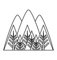 mountains and forest icon vector image vector image