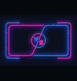 neon versus banner game battle glowing frame vector image vector image