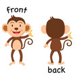 opposite words front and back vector image vector image