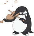 Penguin Loves Music vector image vector image