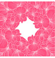Pink and white orchid frame vector image vector image