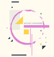 poster abstract art geometric background vector image