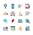 property intellectual copyright icons set vector image vector image