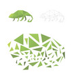 puzzle from triangles collect a chameleon vector image