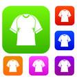 raglan tshirt set color collection vector image