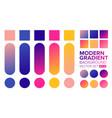 set gradient 01 vector image vector image