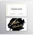 set of business card templates with brush vector image vector image