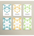 set of stylish modern line textures vector image vector image