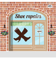 shoe repairs service vector image