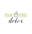 smoothie detox emblem vector image vector image