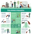 Stray Animals Infographics Set vector image vector image