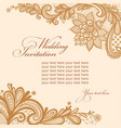 wedding invitation with lace and text