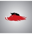 Wild Fire Hog head Mascot sport team logo vector image