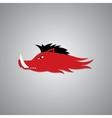 Wild Fire Hog head Mascot sport team logo vector image vector image