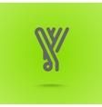 Y Letter Y type line shape Y Line Logo Design vector image vector image