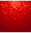 Red bokeh background vector image