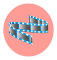 Tape film icon vector image
