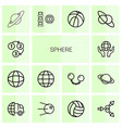 14 sphere icons vector image vector image