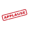 Applause Text Rubber Stamp vector image vector image