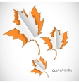 Autumn paper cut background with leaves vector image vector image