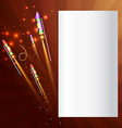 Background of diwali crackers vector image vector image