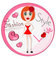 beautiful girl in dress vector image vector image