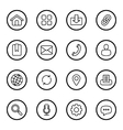 black line web icon set circle vector image vector image