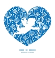 blue white lineart plants shooting cupid vector image vector image