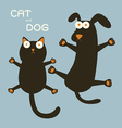 catdog vector image vector image