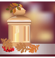Christmas candle light vector image vector image