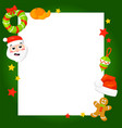 christmas frame with holly decoration vector image vector image