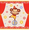Circus happy birthday card design vector image vector image