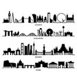 city silhouette london singapore madrid rome vector image vector image