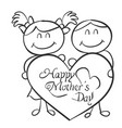 collection of mother day theme vector image vector image