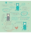 Comics about love and forgiveness vector image vector image