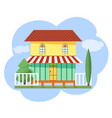 cottage house flat for web vector image