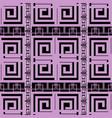 elegant violet greek key meander geometric vector image vector image