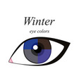 eye colors for winter type vector image vector image
