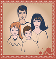 family post card vector image